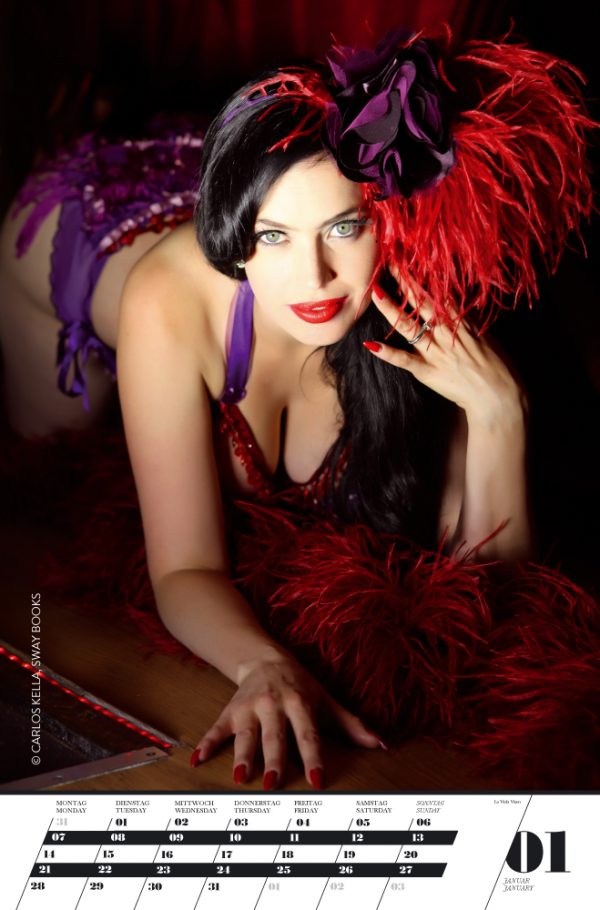 Home of Burlesque Kalender 2013: Monatskalender von Carlos Kella mit 12 Kalenderblättern und 13 nationalen und internationalen Burlesque-Performern