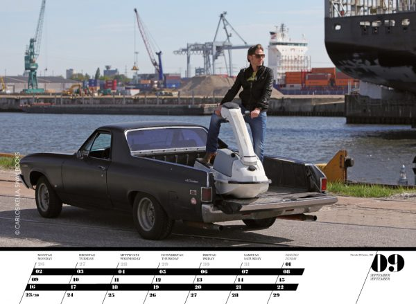 Gents & legendary US-Cars Kalender 2013: Monatskalender von Carlos Kella mit 12 Kalenderblättern, 12 Gents und 12 US-Oldtimern