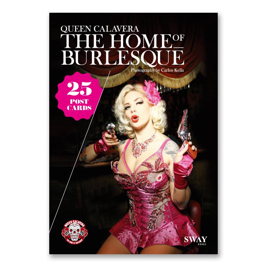 HOME OF BURLESQUE Postkartenbuch mit 25 Postkarten von Carlos Kella zum Heraustrennen