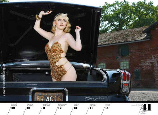 Girls & legendary US-Cars 2017 Wochenkalender von Carlos Kella mit 52 Kalenderblättern, 16 Models und 26 US-Oldtimern. Limitiert.