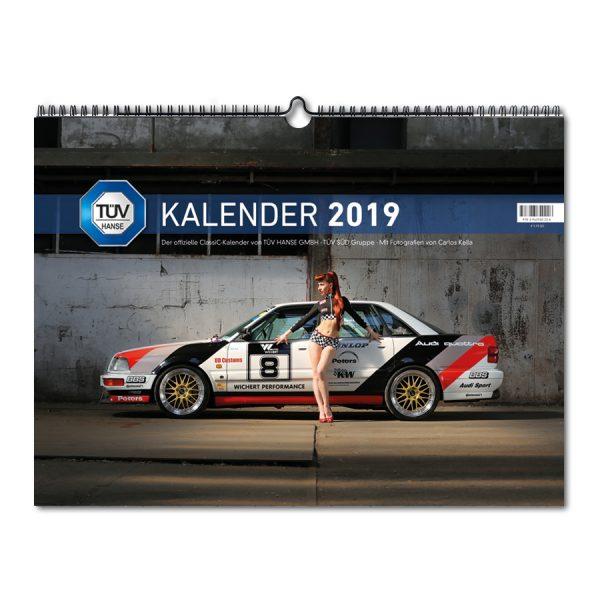 TÜV HANSE ClassiC Kalender 2019: Monatskalender mit 12 klassischen Automobilen, die von Carlos Kella inszeniert wurden.