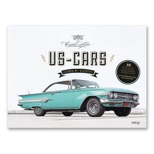 US-Cars – Legenden mit Geschichte der US-CARS Bildband mit Fotografien von Carlos Kella und Hintergrundstories von Peter Lemke.