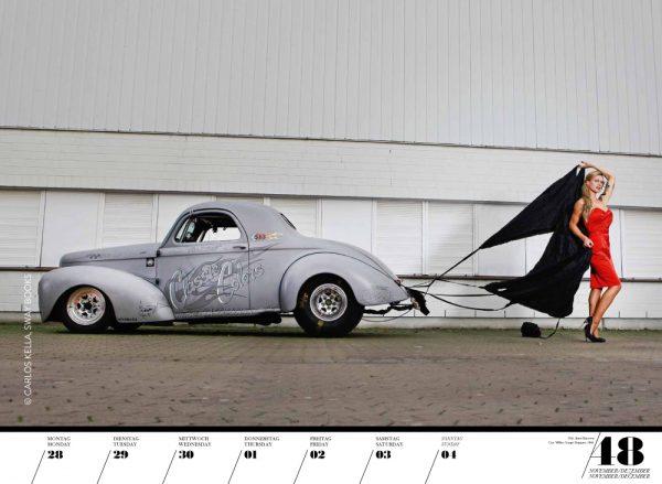 Girls & legendary US-Cars 2016 Wochenkalender von Carlos Kella mit 52 Kalenderblättern, 19 Models und 30 US-Oldtimern Limitiert/Nummeriert/Auflage: 2016 Stück