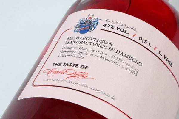 The Taste of Carlos Kella: Gin La Femme 43% VOL. / 0,5 Liter-Flasche in dekorativer Geschenkdose Hergestellt und von Hand abgefüllt in Hamburg