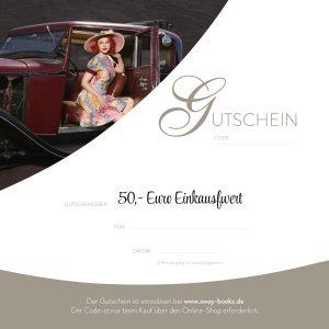 Gutschein über 50 Euro Einkaufswert bei SWAY Books