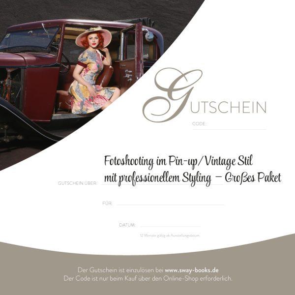 Gutschein Fotoshooting im Pin-up/Vintage Stil mit professionellem Styling – Grosses Paket