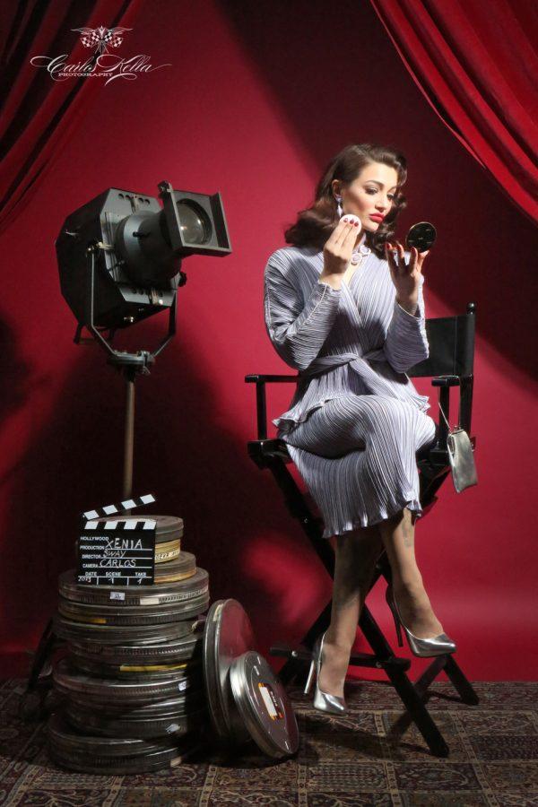 Vintage Hair- & Make-Up Workshop mit Typberatungund professionelles Fotoshooting im Pin-up/Vintage-Stil: Posing-Coach Xenia HighVoltage
