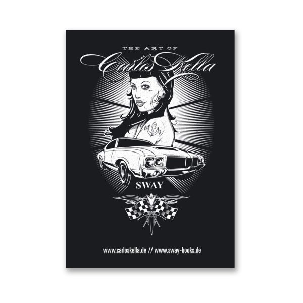 The Art of Carlos Kella Outdoor-Sticker, selbstklebend mit Cars & Girls-Motiv