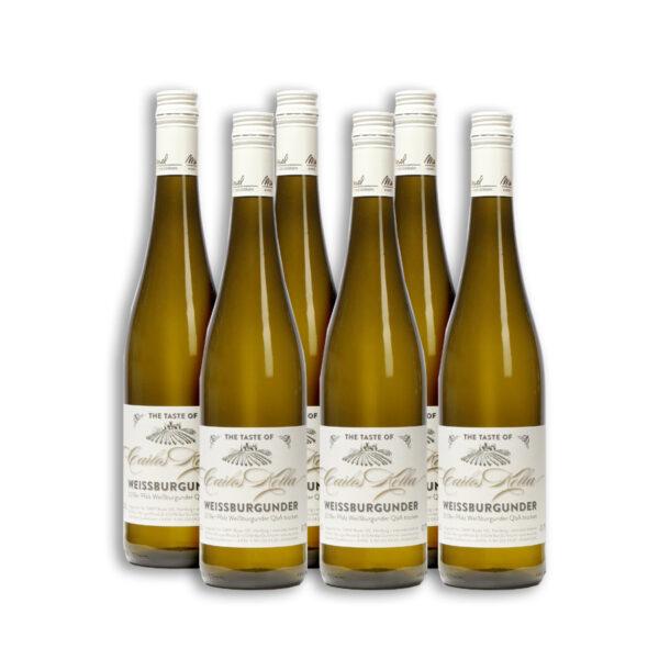 The Taste of Carlos Kella: Weissburgunder 12,62 % VOL. / 6 x 0,75 Liter-Flasche im Versandkarton 2019er Pfalz Weißburgunder QbA trocken