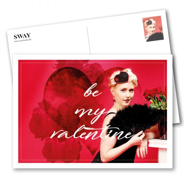 "Postkarte ""Be my Valentine"" mit Paula Walks – Der Valentinsgruß in Postkartenform Model: Paula Walks Foto: Carlos Kella"