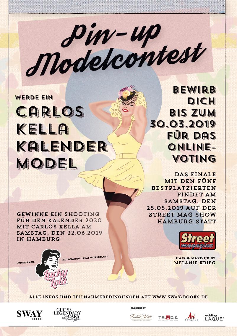 """Gewinne ein Fotoshooting für den """"Girls & legendary US-Cars"""" 2010 Wochenkalender mit Carlos Kella am Samstag, den 22.06.2019 in Hamburg"""