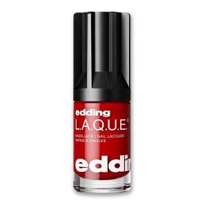 Nagellack Real Red von edding L.A.Q.U.E. vegan und nagelfreundlich. Ein starkes Rot. Genau wie Ihr Selbstbewusstsein.
