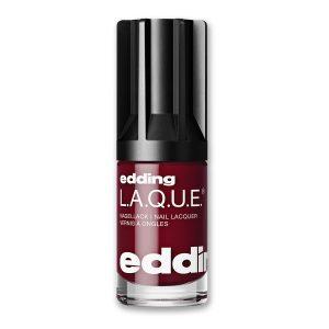 Nagellack No. 164 Daily Dark Red von edding L.A.Q.U.E. – vegan und nagelfreundlich. Der ausdrucksstarke Klassiker für jeden Tag.