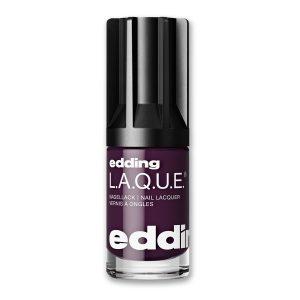 Nagellack No. 170 Absolute Aubergine von edding L.A.Q.U.E. – vegan und nagelfreundlich. Schönheit ist nicht vergänglich – mit diesem tiefdunklen Violett!