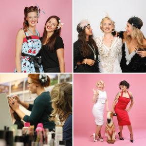 Fotoshooting im Pin-up/Vintage Stil mit professionellem Styling – Für Freundinnen