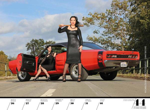 Girls & legendary US-Cars 2020 Wochenkalender von Carlos Kella, Wochenkalender von Carlos Kella mit 53 Kalenderblättern