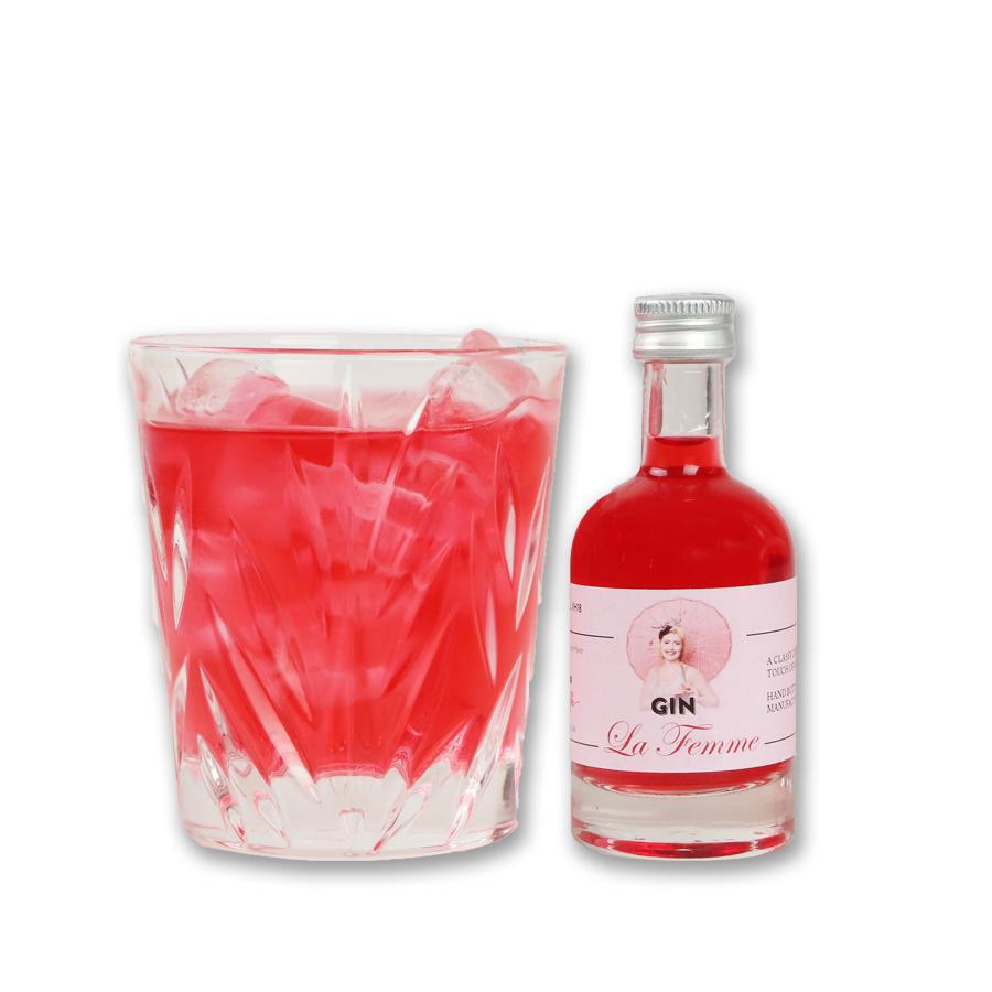 The Taste of Carlos Kella: Gin La Femme Miniatur43% VOL. / 50 ml Liter-Flasche.Zum Probieren, Verschenken oder für unterwegs.