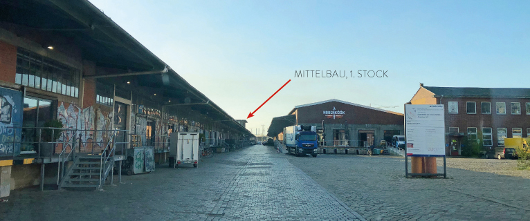 Anfahrt zu SWAY Books im Hamburger Oberhafen