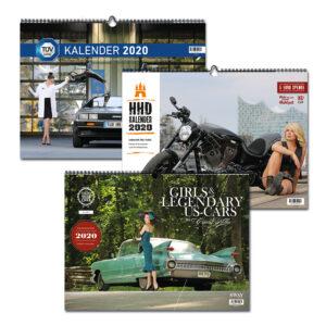 Das Kalender 2020 Bundle: Drei Wandkalender von Carlos Kella zum vergünstigten Bundle-Preis