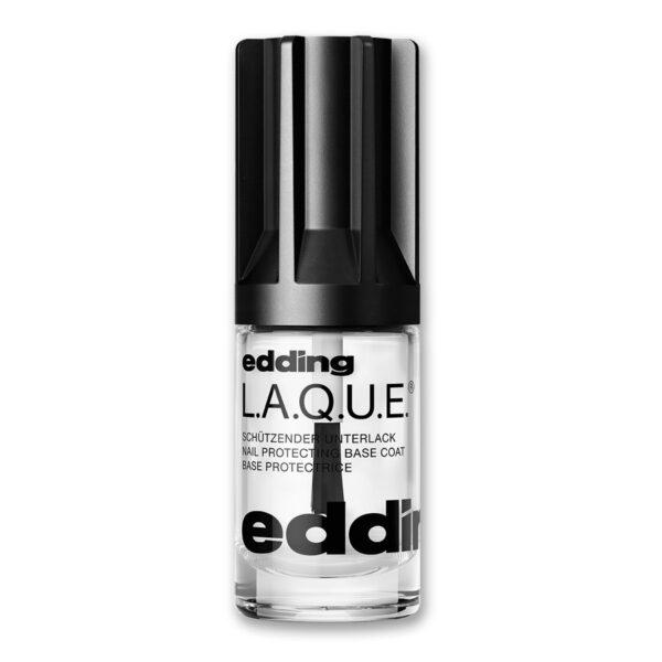 Nagellack No. 371 Schützender Unterlack: Nail protecting base coat von edding L.A.Q.U.E. – vegan und nagelfreundlich. Klarer Unterlack als Basis für strahlende und glänzende Fingernägel.