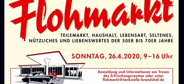 Flohmarkt im Frühjahr an der Oldtimertankstelle Brandshof am Sonntag, den 26.04.2020