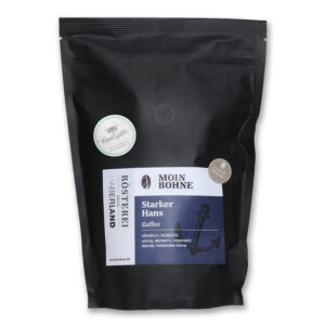 "Moin Bohne Kaffee ""Starker Hans"", 500g Röstkaffee aus Hamburg, Ganze Bohne. Arabica | Robusta"