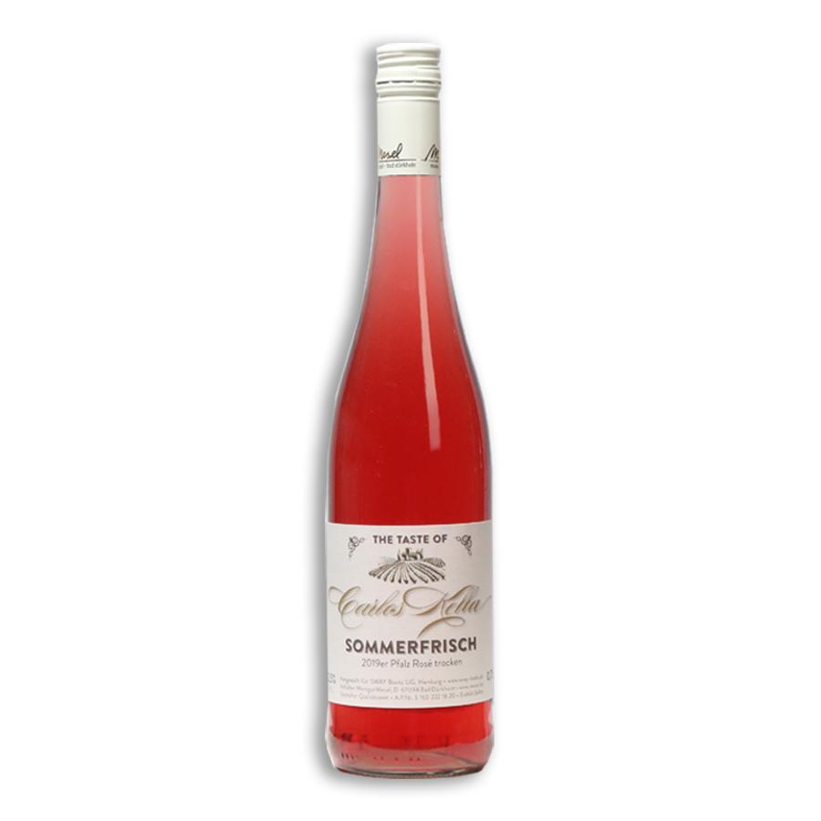 The Taste of Carlos Kella: Rosé Sommerfrisch, 12,26 % VOL. / 6 x 0,75 Liter-Flasche im Versandkarton, 2019er Pfalz Rosé trocken