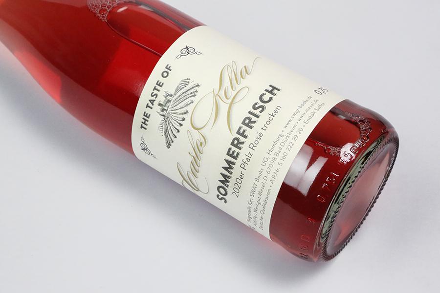 The Taste of Carlos Kella: Rosé Sommerfrisch, 12,26 % VOL. / 6 x 0,75 Liter-Flasche im Versandkarton, 2020er Pfalz Rosé trocken