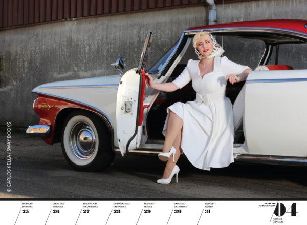Girls & legendary US-Cars 2021 Wochenkalender von Carlos Kella mit 53 Kalenderblättern.