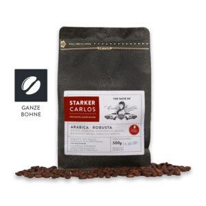 "Moin Bohne ""Starker Carlos"" ganze Bohne 500g Röstkaffee aus Hamburg, Arabica | Robusta."