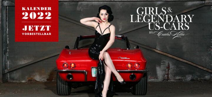 Der Girls & legendary US-Cars 2022 Wochenkalender ist vorbestellbar