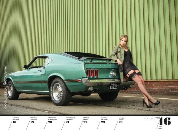 Girls & legendary US-Cars 2022 Wochenkalender