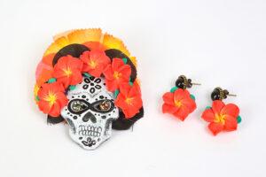 Hibiskus Skull Schmuckset von Froilen Adrett
