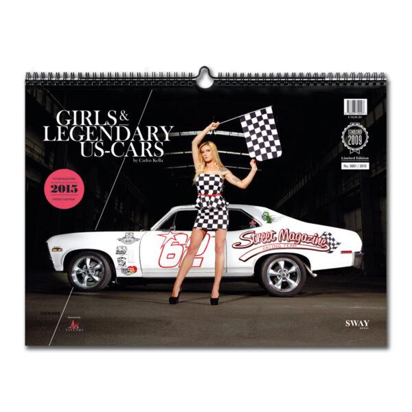 Girls & legendary US-Cars 2015 Wochenkalende