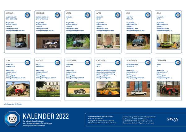 TÜV HANSE ClassiC Kalender 2022
